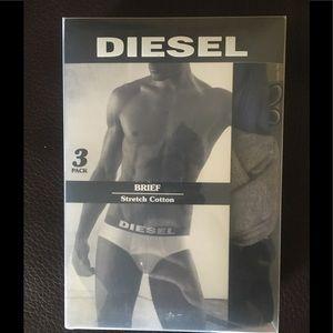 Men's Diesel 3pack Brief Underwear size M